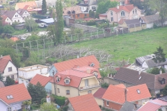 Pohľad z devínskeho hradu z roku 2008