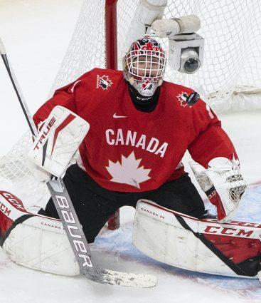 Devon Levi brankár Kanady
