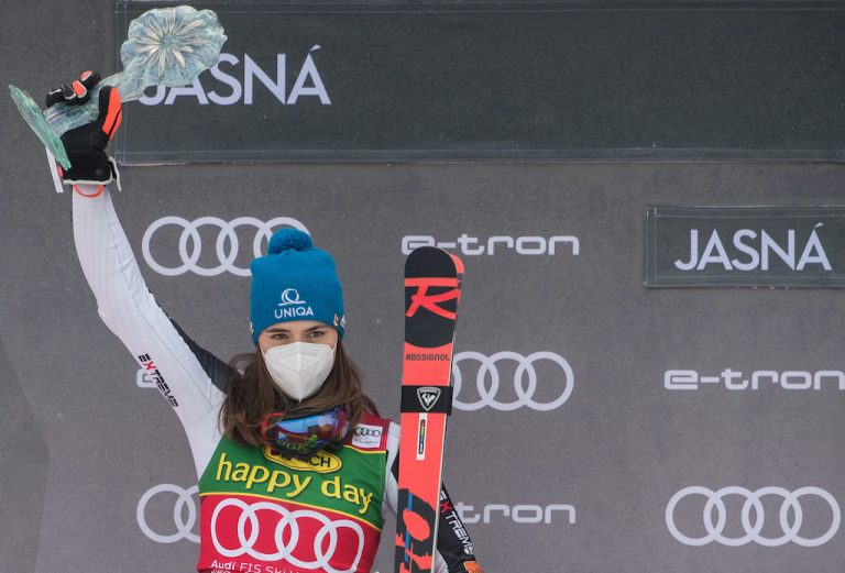 Petra Vlhová lyžovanie