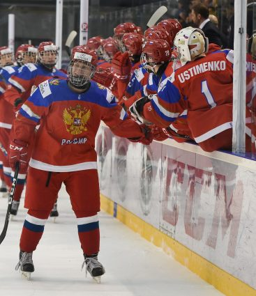 Ruskí mladí hokejisti na MS U18