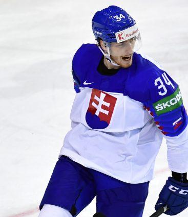 Peter Cehlárik v zápase proti Dánsku na MS 2021