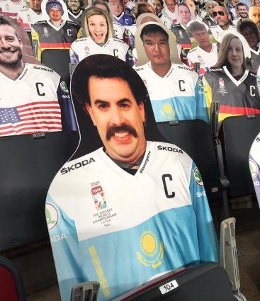Borat na MS 2021 v Lotyšsku
