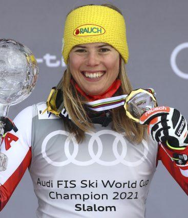Katharina Liensbergerová lyžovanie
