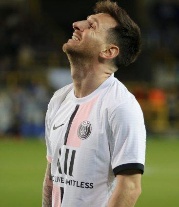 Lionel Messi v prvom zápase ligy majstrov za PSG