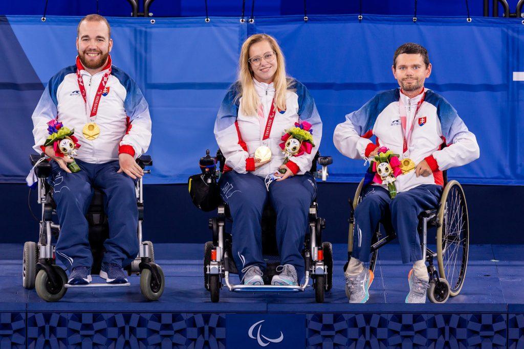 Medailisty Boccia paralympiáda Tokio Slovensko